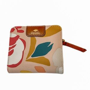 Fossil Pink Floral Small Wallet